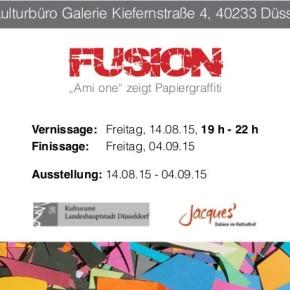 Ausstellung: FUSION - Ami one zeigt Papiergraffiti
